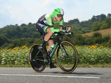 Bauke Mollema of The Netherlands and the Belkin Pro Cycling Team in action during the twentieth stage of the 2014 Tour de France, a 54km individual time trial stage between Bergerac and Perigueux, on July 26, 2014