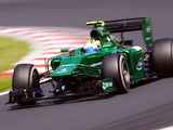 Marcus Ericsson of Sweden and Caterham drives during final practice ahead of the Hungarian Formula One Grand Prix at Hungaroring on July 26, 2014