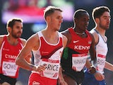 Charlie Grice of England competes in the Men's 1500 metres heats at Hampden Park during day nine of the Glasgow 2014 Commonwealth Games on August 1, 2014
