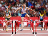 Eilidh Child of Scotland competes in the Women's 400 metres hurdles heats at Hampden Park during day six of the Glasgow 2014 Commonwealth Games on July 29, 2014