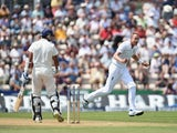 India batsman Murali Vijay is bowled by England bowler Stuart Broad during day three of the 3rd Investec Test between England and India at Ageas Bowl on July 29, 2014