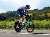 Geraint Thomas of Great Britain and Team SKY in action during the twentieth stage of the 2014 Tour de France, a 54km individual time trial stage between Bergerac and Perigueux, on July 26, 2014
