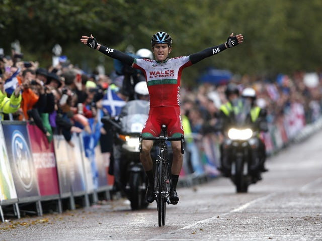 Wales' Geraint Thomas wins the Men's cycling road race during the 2014 Commonwealth Games in Glasgow, Scotland on August 3, 2014