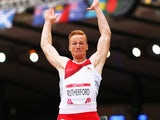 Greg Rutherford qualifies for the final of the men's long jump on July 29, 2014