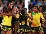 The Jamaica team celebrate victory during the Netball Bronze Medal Match between England and Jamaica at SECC Precinct during day eleven of the Glasgow 2014 Commonwealth Games on August 3, 2014