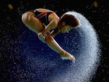 Canada's Jennifer Abel during practice prior to the women's 3m springboard final on August 2, 2014