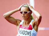 Jenny Meadows of England competes in the Women's 800 metres heats at Hampden Park during day seven of the Glasgow 2014 Commonwealth Games on July 30, 2014