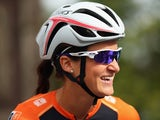 Lizzie Armitstead of Boels-Dolmans Cycling Team waits at the start of the Elite Women British National road race championships on June 29, 2014