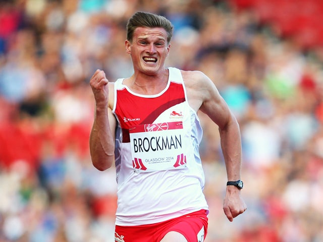 Martin Brockman of England competes in the Men's Decathlon 100 metres at Hampden Park during day five of the Glasgow 2014 Commonwealth Games on July 28, 2014