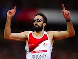 Martyn Rooney finishes first in his semi-finals heat in the men's 400m on July 29, 2014