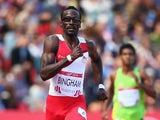 Michael Bingham during the men's 400m heats on July 28, 2014