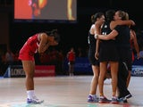 Stacey Francis of England is dejected after New Zealand defeated England in the netball semi final between New Zealand and England at SECC Precinct during day ten of the Glasgow 2014 Commonwealth Games on August 2, 2014