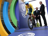 Australia's Rohan Dennis starts the Men's Cycling Individual Time Trial during the 2014 Commonwealth Games in Glasgow, Scotland on July 31, 2014