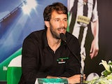 Ruud Van Nistelroy at the Bitexco Financial Tower on April 3, 2014