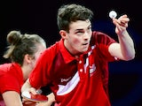 Sam Walker and Karina Le Fevre of England compete against Ghosh Soumyajit and Ghatak Poulomi of India during the mixed doubles table tennis at Scotstoun Sports Campus during day seven of the Glasgow 2014 Commonwealth Games on July 30, 2014