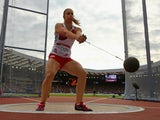 Sophie Hitchon on her way to a Commonwealth bronze in the women's hammer throw on July 28, 2014