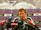 England Manager Steve McClaren holds a press conference in Zagreb 10 October 2006