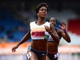 Tiffany Porter racing in Birmingham on June 28, 2014