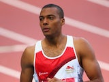 William Sharman during qualifying for the men's 110m hurdles on July 29, 2014