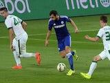 Cesc Fabregas scores for Chelsea against Ferencvaros on August 10, 2014