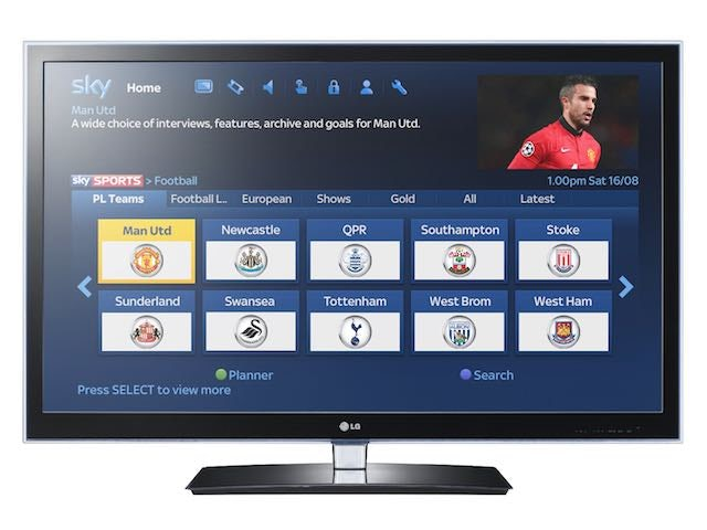 Screenshot for Sky's on-demand service