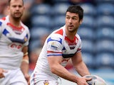 Richard Mathers of Wakefield Trinity Wildcats in action during the Super League match between Huddersfield Giants and Wakefield Wildcats at John Smith's Stadium on April 21, 2014