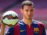 Thomas Vermaelen is unveiled as a Barcelona player on August 10, 2014