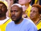 Tim Hardaway Sr., father of Tim Hardaway Jr. #10 of the Michigan Wolverines, attends Michigan's game against the Syracuse Orange during the 2013 NCAA Men's Final Four Semifinal at the Georgia Dome on April 6, 2013