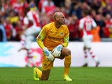 Man City keeper Wilfredo Caballero during the Community Shield on August 10, 2014
