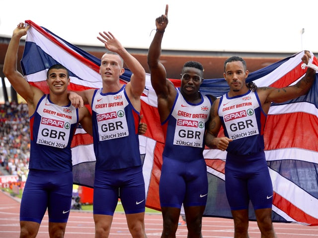 result great britain 39 s men power to 4x100m gold at european championships sports mole. Black Bedroom Furniture Sets. Home Design Ideas