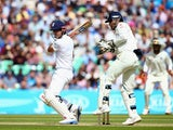 Alastair Cook in action for England on day two of the fifth Test with India on August 16, 2014