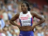 Christine Ohuruogu during the women's 400m heats in Zurich on August 12, 2014