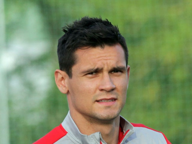 Croatia's defender Dejan Lovren takes part in a training session in preperation for the FIFA World Cup 2014 in Brazil on May 23, 2014