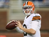 Johnny Manziel #2 of the Cleveland Browns warms up prior to the start of the preseason game against the Detroit Lions at Ford Field on August 9, 2014