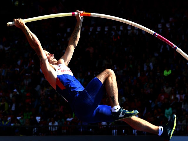 Luke Cutts of Great Britain and Noerthern Ireland competes in the Men's Pole Vault qualification during day three of the 22nd European Athletics Championships at Stadium Letzigrund on August 14, 2014