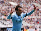 Manchester City's Spanish midfielder David Silva celebrates scoring the opening goal of the English Premier League football match between Newcastle United and Manchester City at St James' Park in Newcastle-upon-Tyne, north east England on August 17, 2014