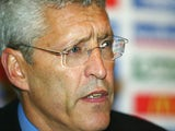 FA Chief Executive Mark Palios talks during a press conference at Sopwell House on October 8, 2003