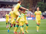 Nantes' French midfielder Jordan Veretout jubilates after scoring a goal during the French L1 football match between FC Metz and FC Nantes on August 16, 2014