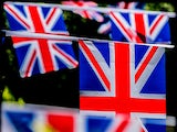 Union Jack bunting during Royal Ascot at Ascot Racecourse on June 21, 2014