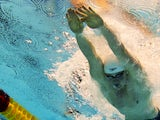 Adam Peaty swimming his way to a Championships record in the 50m breaststroke on August 22, 2014