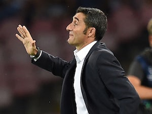 Ernesto Valverde head coach of Athletic Bilbao during the first leg of UEFA Champions League qualifying play-offs round match between SSC Napoli and Athletic Club on August 19, 2014