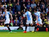Tom Cairney of Blackburn celebrates his goal during the Sky Bet Championship match between Norwich City and Blackburn Rovers at Carrow Road on August 19, 2014