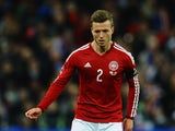 Casper Sloth of Denmark in action during the International Friendly match between England and Denmark at Wembley Stadium on March 5, 2014