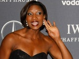 A sarcastic Denise Lewis on the red carpet in 2012