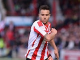 Harry Forrester of Brentford in action during the npower League One match between Brentford and Doncaster Rovers at Griffin Park on April 27, 2013