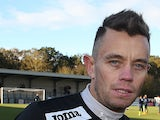 Lee Hendrie of Corby Town poses during the pre match warm up prior to the FA Cup with Budweiser First Round match between Corby Town and Dover Athletic at Steel Park on November 9, 2013