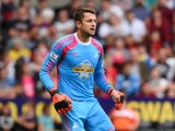 Lukasz Fabianski of Swansea City in action during a pre season friendly match between Swansea City and Villarreal at Liberty Stadium on August 09, 2014