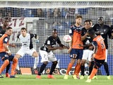 Montpellier's Ivoirian defender Siaka Tiene scores a goal during the French L1 football match Montpellier (MHSC) vs Metz (FCM) on August 23, 2014