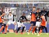 Montpellier's Ivoirian defender Siaka Tiene scores a goal during the French L1 football match Montpellier (MHSC) vs Metz (FCM) on August 23, 2014