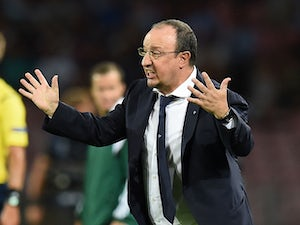Rafael Benitez head coach of Napoli during the UEFA Champions League qualifying play-off first leg match between SSC Napoli and Athletic Club on August 19, 2014